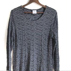 Elemente Clemente Dresses - Element Clemente Grey Textured Maxi Dress Size 2